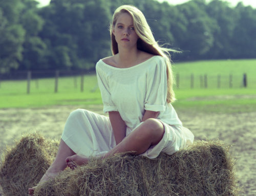 girl on hay